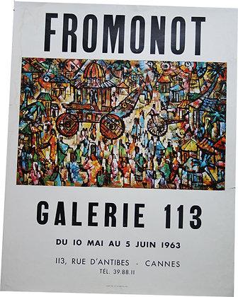 Affiche de FROMONOT à la galerie 113 Cannes 1963