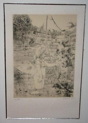 """Lithographie de Jean Pierre STHOLL 1975 - série """"Erotique"""""""