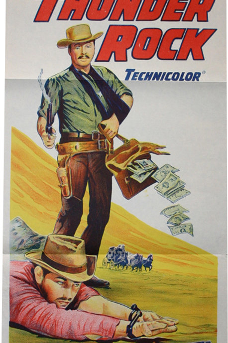 Affiche WESTERN - STAGE to THUNDER ROCK - 1964