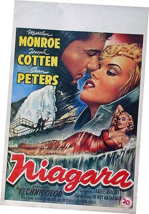 "Affiche Belge ""NIAGARA"" Marilyn MONROE 1953 RE"