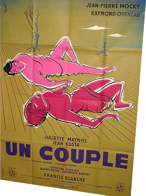 AFFICHE FILM de MOCKY Un Couple 1960 par JAN MARA