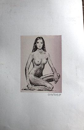 Lithographie Michel Leconte - Nu Féminin 2/8
