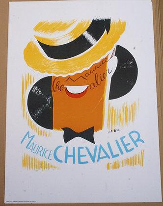 Affiche litho d'après Charles KIFFER - Maurice CHEVALIER Le canotier