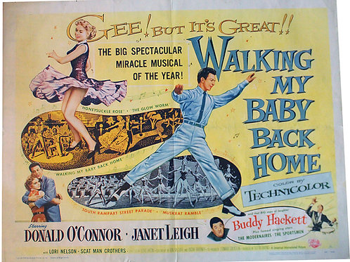 """Affiche US """" Walking my baby back home"""" 1953 EO"""