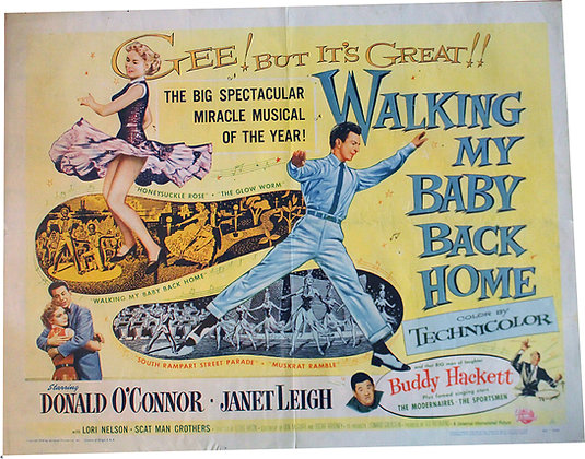 "Affiche US "" Walking my baby back home"" 1953 EO"