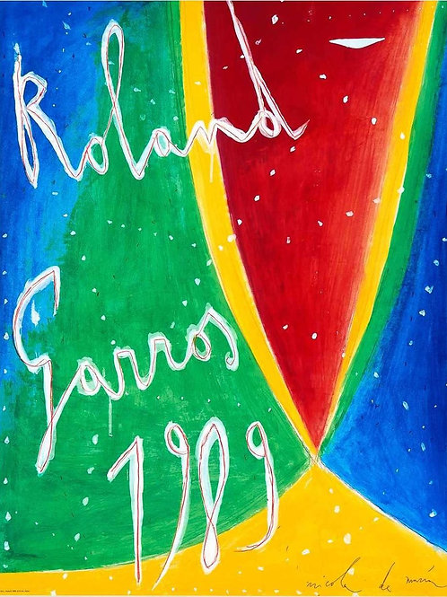 "Affiche originale de De Maria ""Roland Garros 1989"""