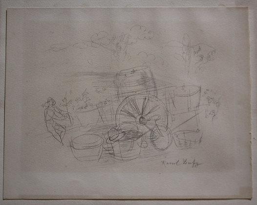 """Raoul DUFY - Lithographie signée """"Le temps des vendanges"""""""