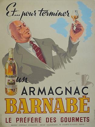 "Affiche ""Armagnac Barnabé"" c.1940"