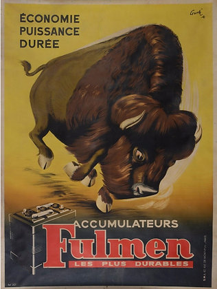 """Affiche """"Accumulateurs FULMEN"""" par GURTI - c.1920"""