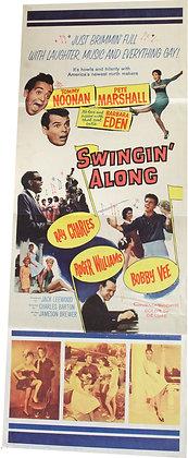 """Affiche music USA """"Swingin' along"""" - 1962"""