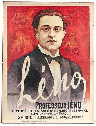 Affiche c.1920 M. COLLIN - Professeur LENO Spirite Magnétiseur