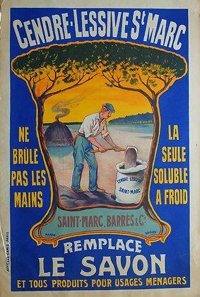 """Affiche """"Lessive St Marc"""" c.1920"""