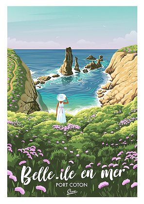 "Affiche Clavé Illustration ""Belle Ile en Mer"""