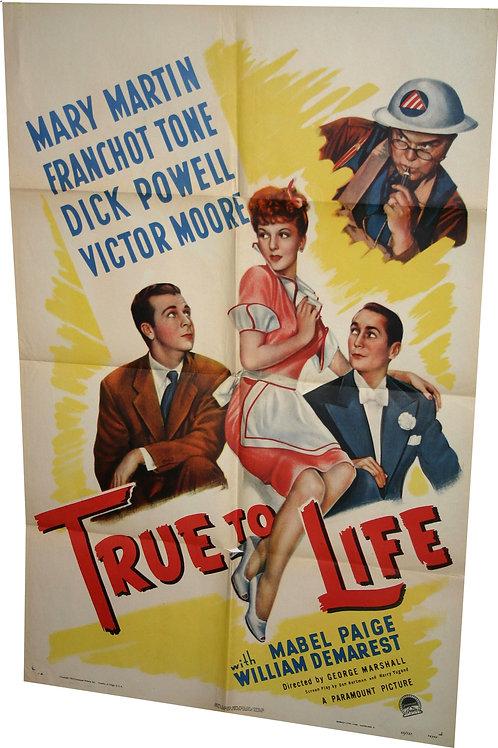 Original USA - True to Life - 1943