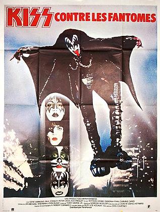 """Affiche Musique Hard-Rock """"KISS contre les fantomes"""" - 1978"""