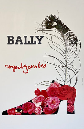 Affiche Bally Chaussure Plume & Roses par Roger Bezombes