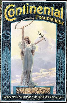 """Affiche """"Continental Pneumatique"""" par Maurice Marodon -  - Années 1900"""