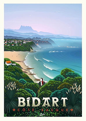 "Affiche Clavé Illustration ""Bidart"""