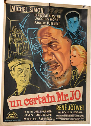 "Affiche ""un certain Mr Joe"" Michel SIMON par ALLARD - 1958"
