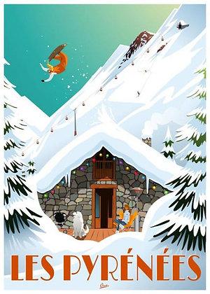 """Affiche CLAVE Illustration """"Les Pyrénées"""""""