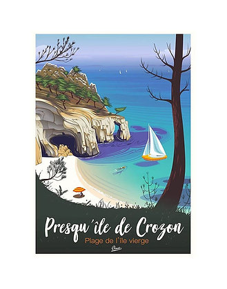 """Affiche CLAVE Illustration - """"Presqu'ile de Crozon"""""""