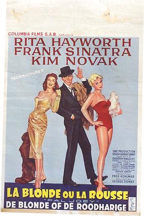 """Affiche BE """"La Blonde ou la Rousse"""" - 1957"""