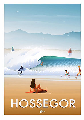"Affiche CLAVE Illustration : ""Hossegor """