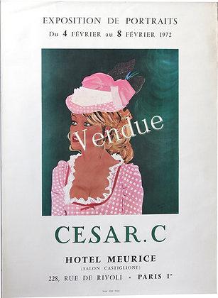 """Affiche Expo par CESAR. C """"Brigitte Bardot"""" 1972"""
