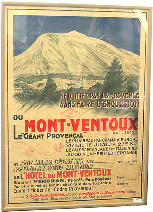 """Affiche """"Mont Ventoux - Le Géant provençal"""" - c.1940"""