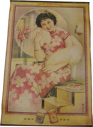 Affiche Publicitaire Chine Geisha