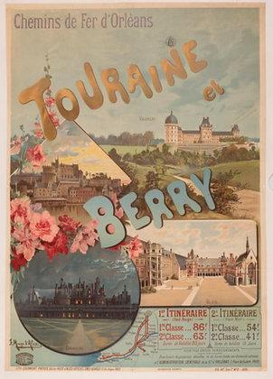 Hugo D'Alesi - Chemins de fer d'Orleans Touraine et Berry Chambort Blois - 1896
