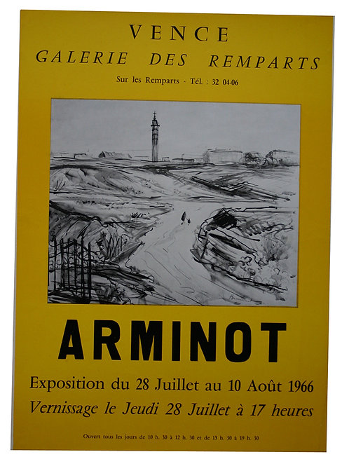 AFFICHE EXPOSITION ARMINOT VENCE 1966