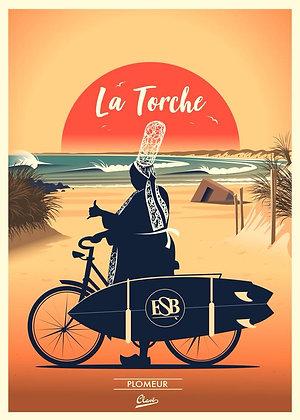 """Affiche CLAVE Illustration """"La Torche"""""""