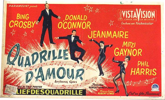 """Affiche belge """"Quadrille d'amour"""" - 1956"""