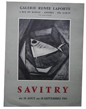 Affiche Expo SAVITRY - Cubisme - 1963