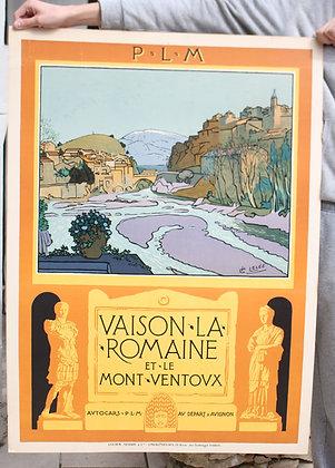 Affiche Affiche P.L.M Vaison La Romaine/Mont Ventoux Léo LELEE 1927