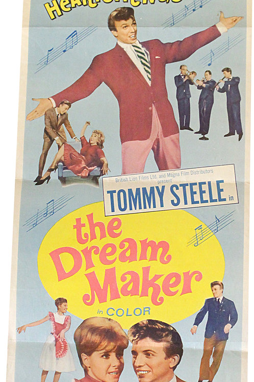 "Affiche music USA ""The dreamaker"" - 1963"