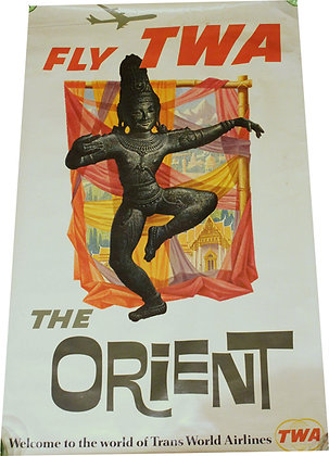 David Klein - Fly TWA - The ORIENT - c.1960
