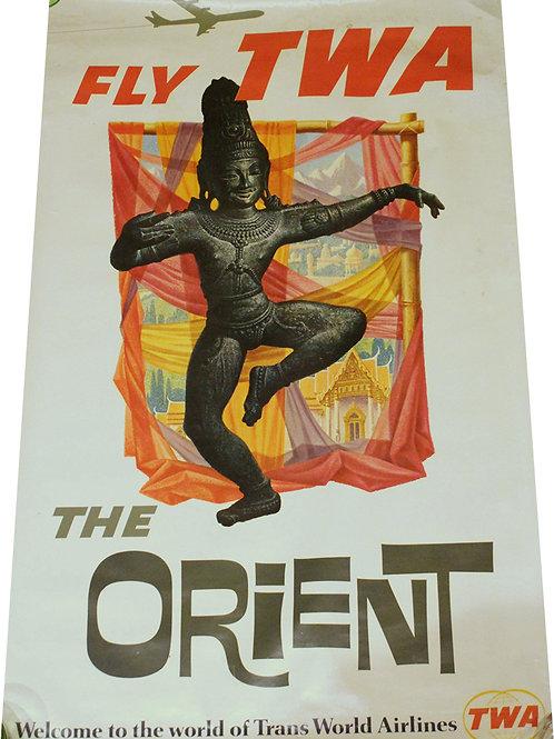 David Klein - Fly TWA - The ORIENT - c.1960