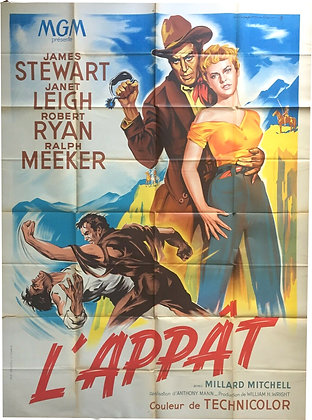 """Affiche Western """"L'appat"""" 1953"""