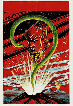 Affiche MAGICIEN signée Robt Kemp - Spectacle Illusion c.1920