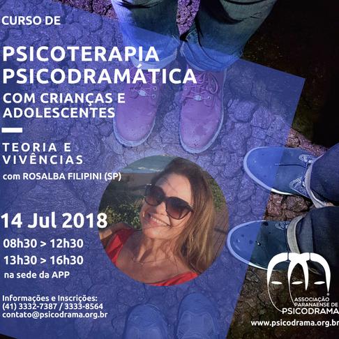 Curso de Psicoterapia Psicodramática com crianças e adolescentes
