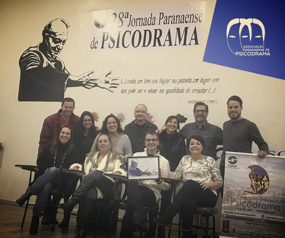 Encontro Pós Congresso Brasileiro na sede da Associação Paranaense de Psicodrama