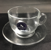 Glass Cup w\ Saucer