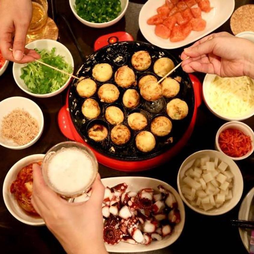【Japanese traditional food events! Be professional Takoyaki maker!】