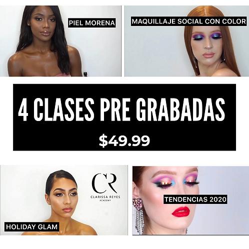 4 CLASES DE MAQUILLAJE PRE- GRABADAS