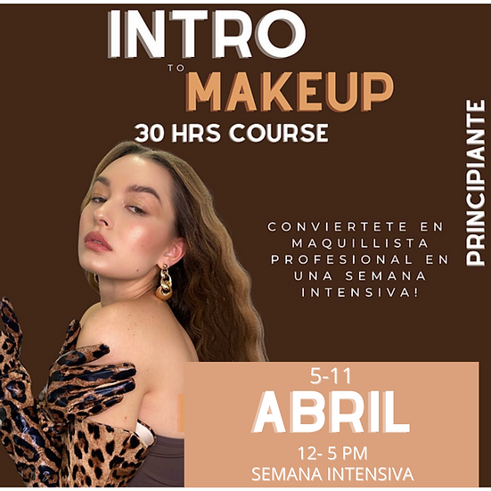 INTRO TO MAKEUP 30 HRS COURSE