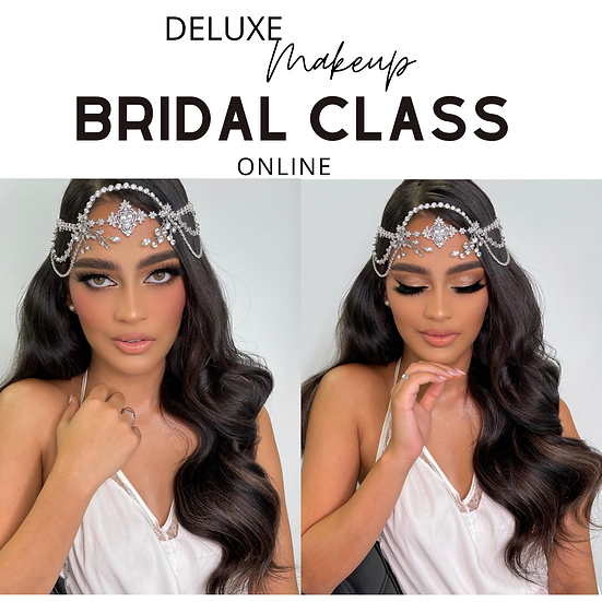 Bronze smokey Deluxe bridal makeup class