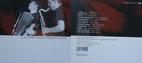 CD -Klaus Paier/Gerald Preinfalk//Saion