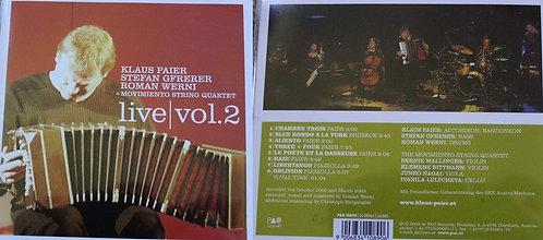 CD - Klaus Paier - Live Vol. 2